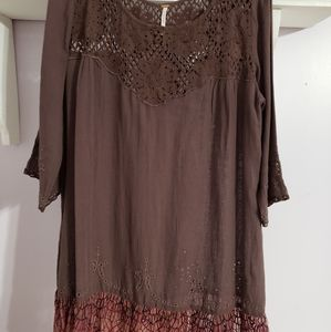 Free people long sleeved mini dress